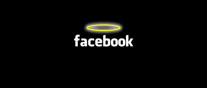 facebook mit Heiligenschein