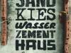Sand - Kies - Wasser - Zement - Haus