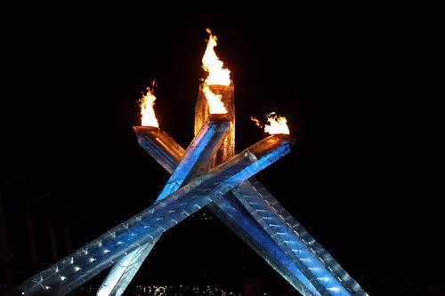 Das heilige Olympische Feuer