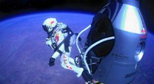 Baumgartners Sprung aus der Stratosphäre.