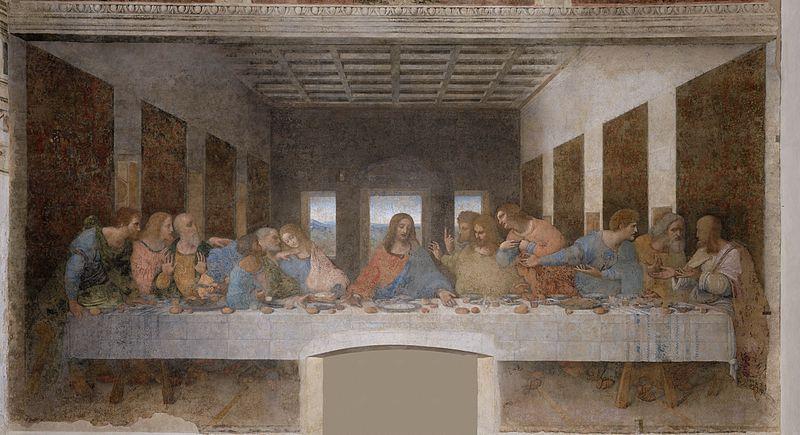 "(Bild: Leonardo da Vinci ""Das letzte Abendmahl""/ Public Domain)"