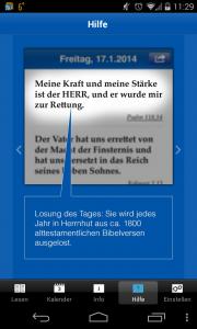 Die Losungs-App der Brüdergemeine. (Bild: Screenshot/fm/Theopop)