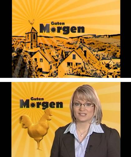 Oben: Intro des Videos, unten: der Impuls, gesprochen von PfarrerInnen der Landeskirche in Württemberg.